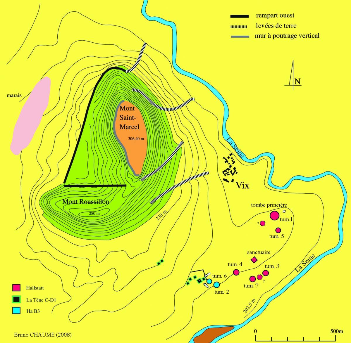 Mont Lassois, prospections du PCR Vix et son environnement