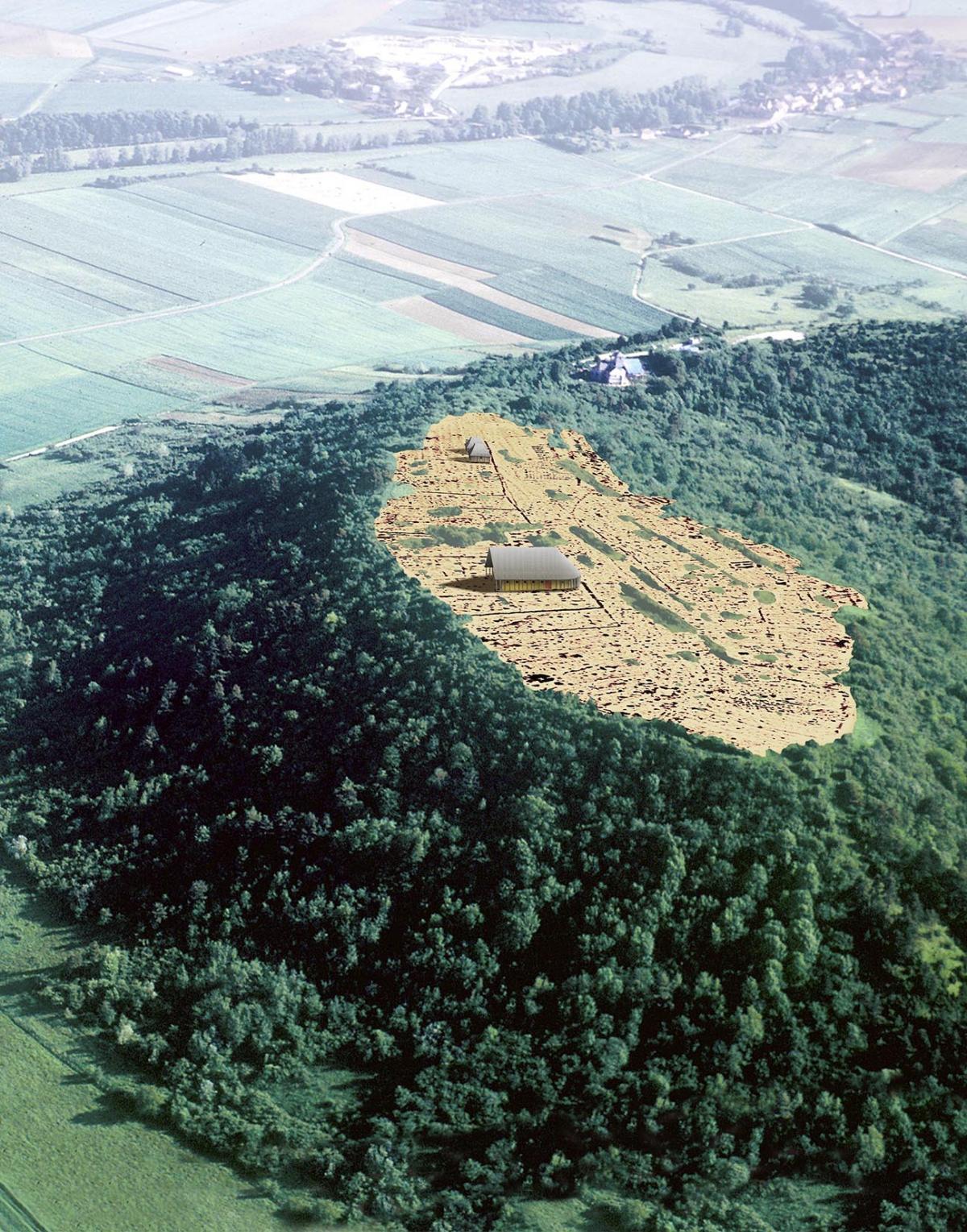 Le plateau st marcel et une partie de ses constructions