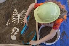 Atelier enfant, vacances, fouilles archéologiques