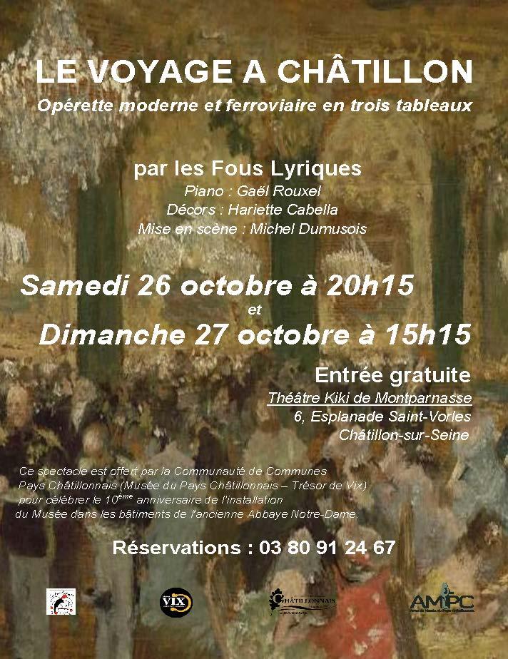 Affiche opérette Le voyage à Châtillon © AMPC