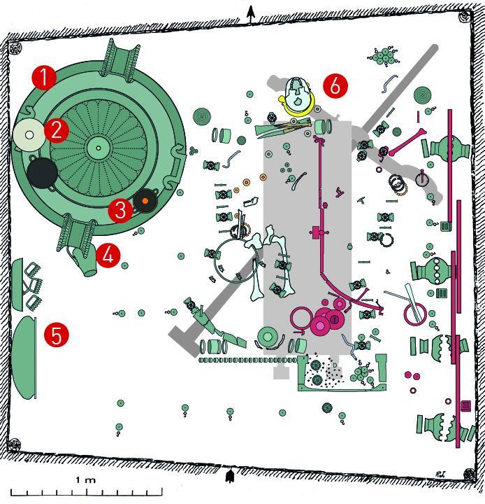 Plan de la tombe de Vix © Joffroy - PCR Vix et son environnement